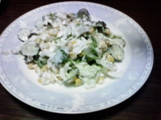 カスピ海ヨーグルトのサラダ!