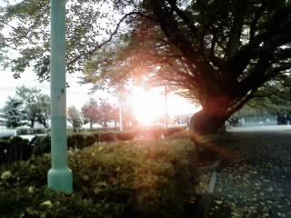 旭が丘の夕日
