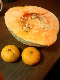 かぼちゃと柚子